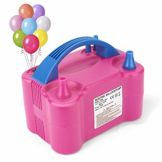 Two Nozzles High Power Electric Balloon Inflator Air Pump for Wedding Party Multi Color