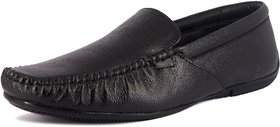 IAddicted Men's Black Leather Formal Slip-on Shoes