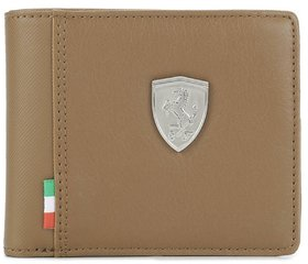 Puma Men Brown Genuine Leather Wallet