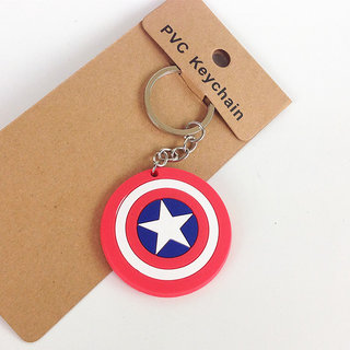 DY Careflection PVC Captain America Shield Keychain Keytag