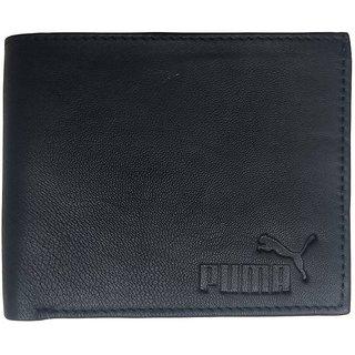 Puma Men Black Genuine Leather Wallet
