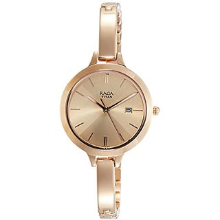 Titan Raga Viva Analog Rose Gold Dial Womens Watch-2578WM01