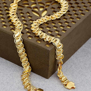 b05ff7267d089 Fashion Frill Trendy Fancy Lotus Design Double Coated Franco Heavy Gold  Plated Designer Chain Combo(FF319FF344)