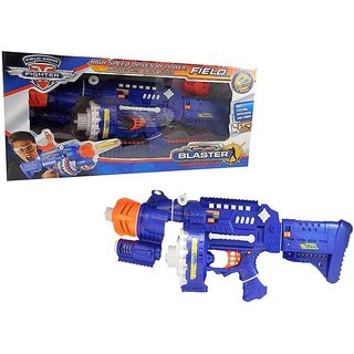 Field Arms Fighter - Blaster Sharp Shooter Gun with 40 Bullets Bullet Proof Glass Charging Version (Multicolor)