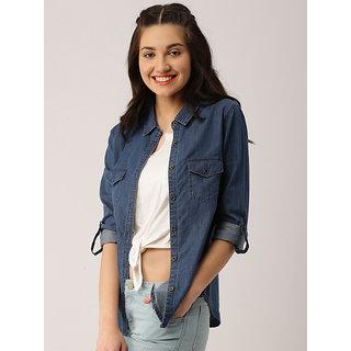 Trendyfrog Denim Dark Two Pocket Full Sleeves Shirt