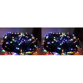 Set of of 2 Pcs 30 Feet Multi Color RGB Led String/Ladi/Serial Lights for Diwali/Xmas/Wedding/Birthday Decoration