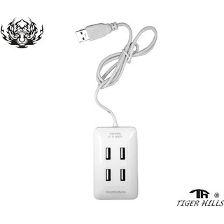 4 USB Port 2.0 High Speed Single Switch USB Hub With Color White Moldel-T312185