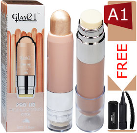 Glam21 Pro HD Highlighter Stick-CL1015-A1 With Free Adbeni Kajal