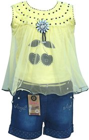 Princess Girls cotton Shorts and Top Set