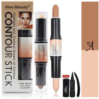 Kiss Beauty Stick Highlight and Contour-9884-A With Free Adbeni Kajal