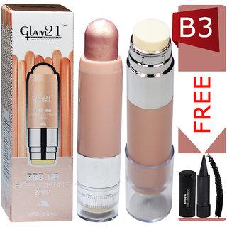 Glam21 Pro HD Highlighter Stick-CL1015-B3 With Free Adbeni Kajal