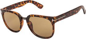 Arzonai Scout Square Yellow-Brown UV Protection Sunglasses |Frame For Men & Women [MA-323-S4 ]