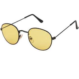 6d68f8cdca3 Buy Arzonai Pento Oval Black-Yellow UV Protection Sunglasses For Men    Women  MA-026-S15   Online - Get 78% Off