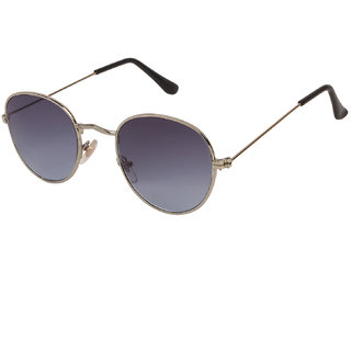 f0a2d7b044d Buy Arzonai Pento Oval Silver-Black UV Protection Sunglasses For Men    Women  MA-026-S19   Online - Get 78% Off