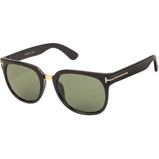 Arzonai Scout Square Black-Green UV Protection Sunglasses |Frame For Men & Women [MA-323-S1 ]