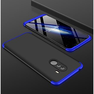 RGW BACK CASE COVER FOR REDMI POCO F1-3 IN 1 CASE COVER RED  BLUE