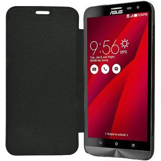 ECellStreet Flip Case Diary Folio Flap Case Cover for Asus ZenFone 2 Laser (ZE500KL)- Black
