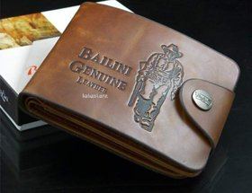 Fashlook Brown Leatherite Casual Bi-fold Wallet For Men