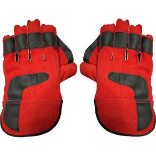 Alligator Tournament Cricket Wicket Keeping Gloves (Men Red)
