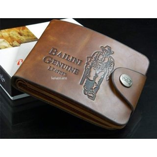 Fashlook Brown Leatherite Casual Bi-fold Wallet For Men