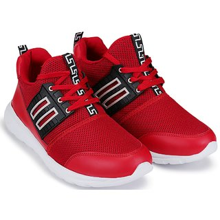 Clymb Star Red Trendy Walking Gym Sports For Mens In Various Sizes