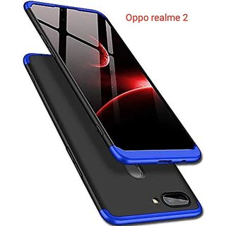 RGW BACK  CASE COVER FOR  REAL ME 2  - 3 IN 1  BLUE  BLACK
