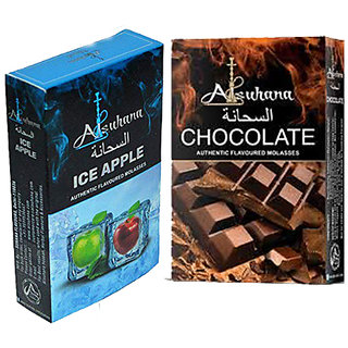 SCORIA Alsuhana Ice Apple  Chocolate Combo Premium Quality Assorted Herbal Hookah Flavour/Molasses Flavours