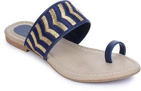 AADVIT Women Casual Blue Slippers