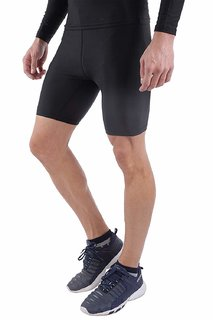 Spinway Half Tight Compression Active Wear Athletic Fit Multi Sport Outdoor Inner Wear (Black)(Large)
