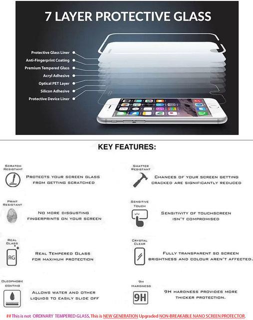 Realme U1 Nano Screen Guard Screen Protector Gorilla New Generation 5D By  NON BREAKABLE GLASS