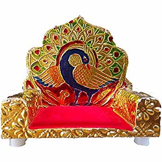 Avneesh Meenakari Singhasan For Laddu Gopal / Designer Wooden Singhasan (10x6x9cm)