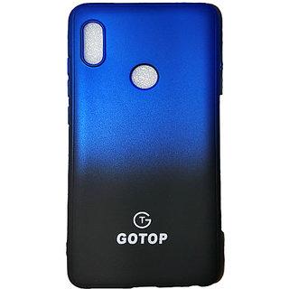 GOTOP Black  Blue Back Cover for Redmi Note5 Pro (Rubber)