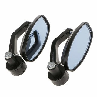 Motorcycle Bar End Mirror Rear View Mirror Oval For Bikes FOR MAHINDRA MOJO