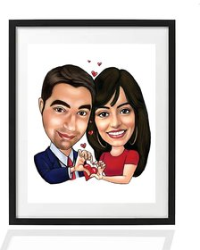 Customized caricature Photo Frame For Gifts  Surprises - Size (8x10 inch) Frame