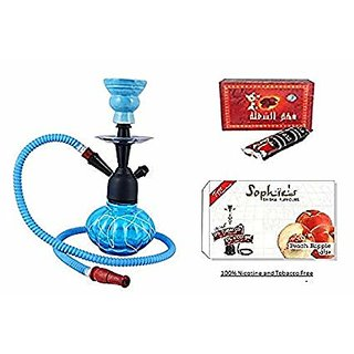 Glass Hookah combo  with Flavour and coal 12 inch