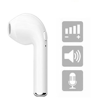 Deals e Unique In the Ear Wireless Bluetooth Headphone i7 Single Stereo Earbud Earphone with Mic