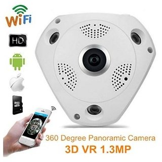 Panoramic Wireless IP Camera Audio Video WiFi 3 Megapixel HD Fish-eye Lens Wide Angle 10m/30ft Night Vision VR CCTV