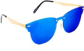 TheWhoop Stylish New UniBody Lens Design Mirror Goggles Wayfarer Sunglasses For Men, Women, Boys, Girls