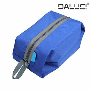 DALUCI Durable Bluefield Ultralight Waterproof Oxford Washing Gargle Stuff Bag Outdoor Camping Hiking Travel Storage Bag