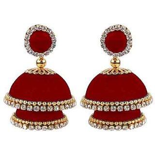 handmade silk thread earring jhumka for girls