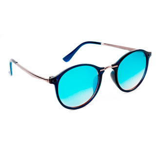d8a7b49fac TheWhoop Premium Mercury Blue Round Sunglasses Stylish Design Mirror Round  Goggles For Men