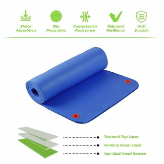Spinway Gym Mat  Blue Yoga and exercise mat with carrying strap