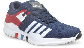Groofer Men's Blue and Red Sport Shoes