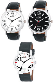 Radius By smartshop16 Analogue Men'S  Boy's watch leather strap combo Pack of 3 (R-44+41+47)