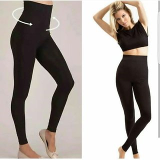 Code Yellow Women's Black High Waist Semi Winter Warm Jegging  Gym Wear / Yoga Wear / Casual Wear