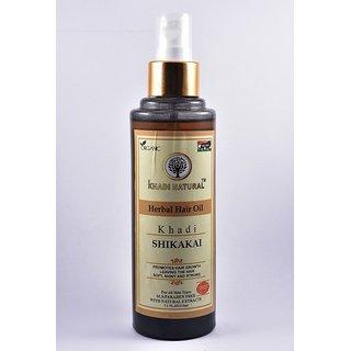 Khadi Natural Shikakai Herbal Hair Oil 210 ml - SLS/Paraben Free