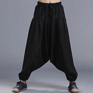 121fea47eae7a Buy Black Rayon Harem Pants for Men Online - Get 43% Off