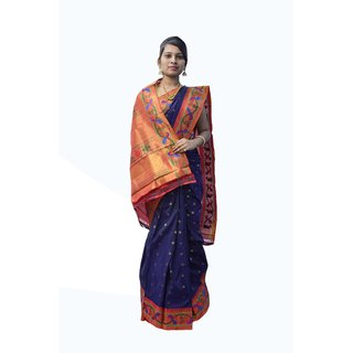 Indians Boutique's Kadiyal Silk Paithani (Neavy Blue)