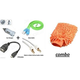 Combo of OTG with Microfiber glove