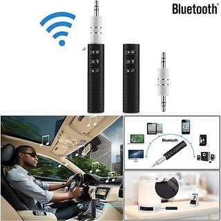 3.5mm Bluetooth Audio Jack Receiver With Mic For Car Kit Compatible For Android & iOS Dongle Connector